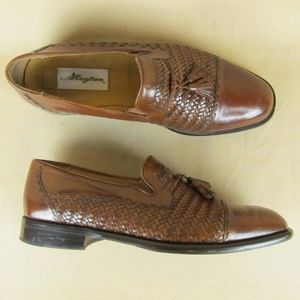 Mezlan Dress Loafer Cap Toe Woven Tassel  US 10 M